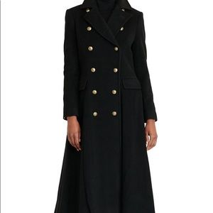 Black coat with buttons
